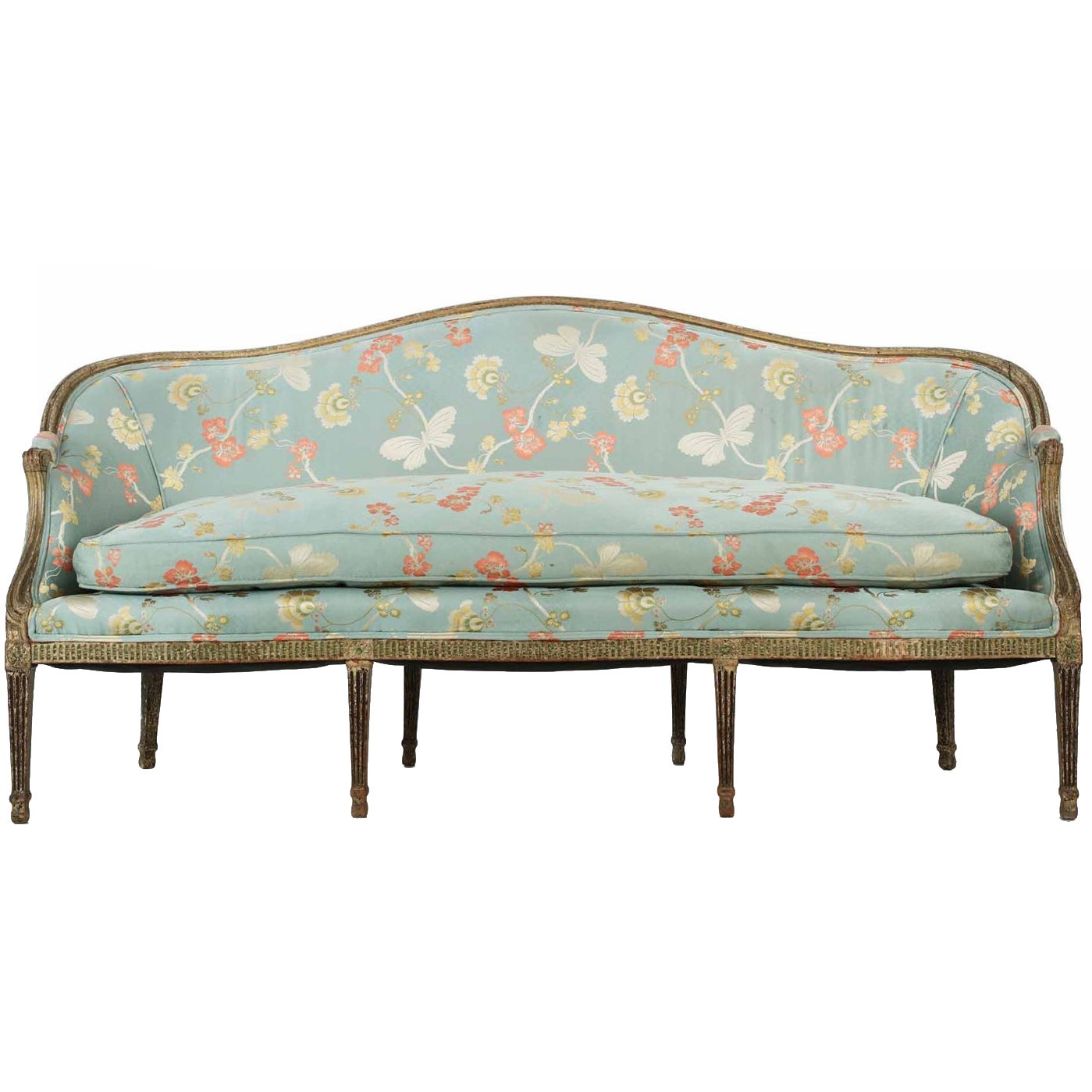 Canape Sofa 18th Century English George Iii Period Canapé Sofa In Early Paint Circa 1780