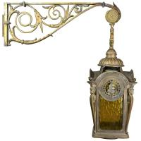 Cast Bronze Lantern Sconce with Bracket at 1stdibs