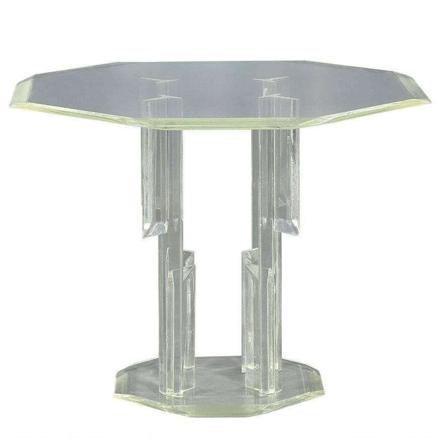 Vintage Hall Table Vintage Lucite Center Hall Table