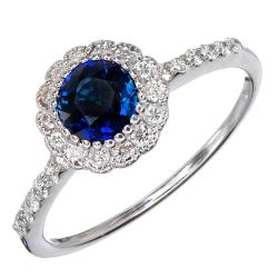 Small Of Blue Engagement Rings