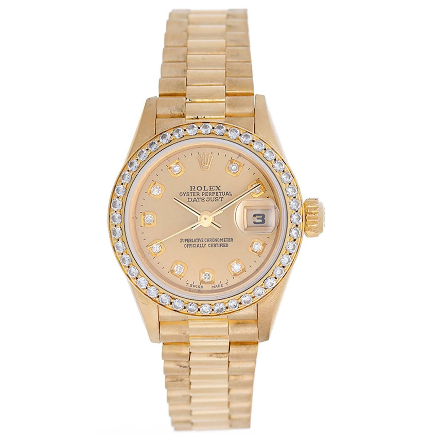 Rolex Ladies Watches Rolex Lady President Diamond Watch 79178