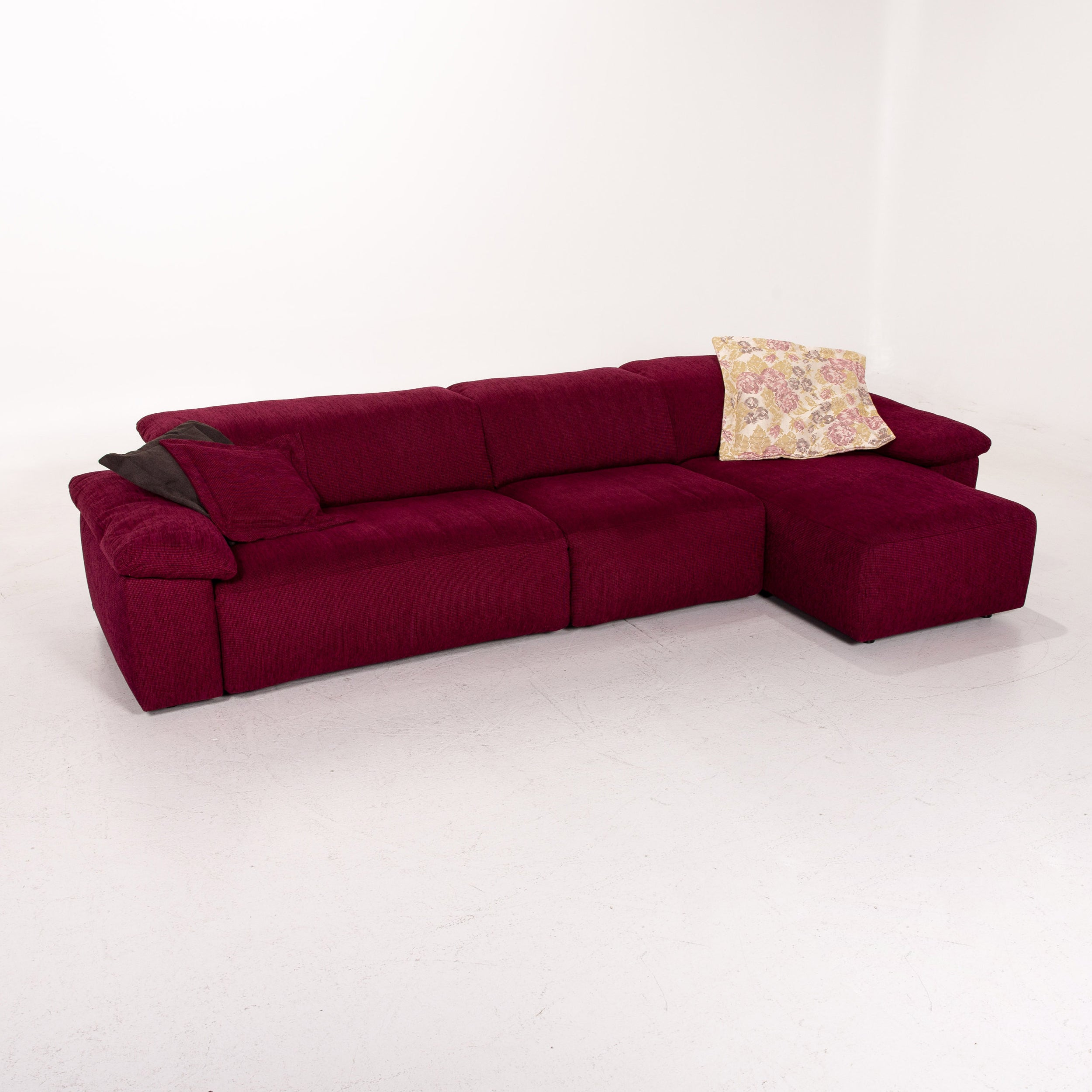 Couch Lila Mondo Fabric Corner Sofa Electrical Function Purple Berry Relax Function Sofa For Sale At 1stdibs