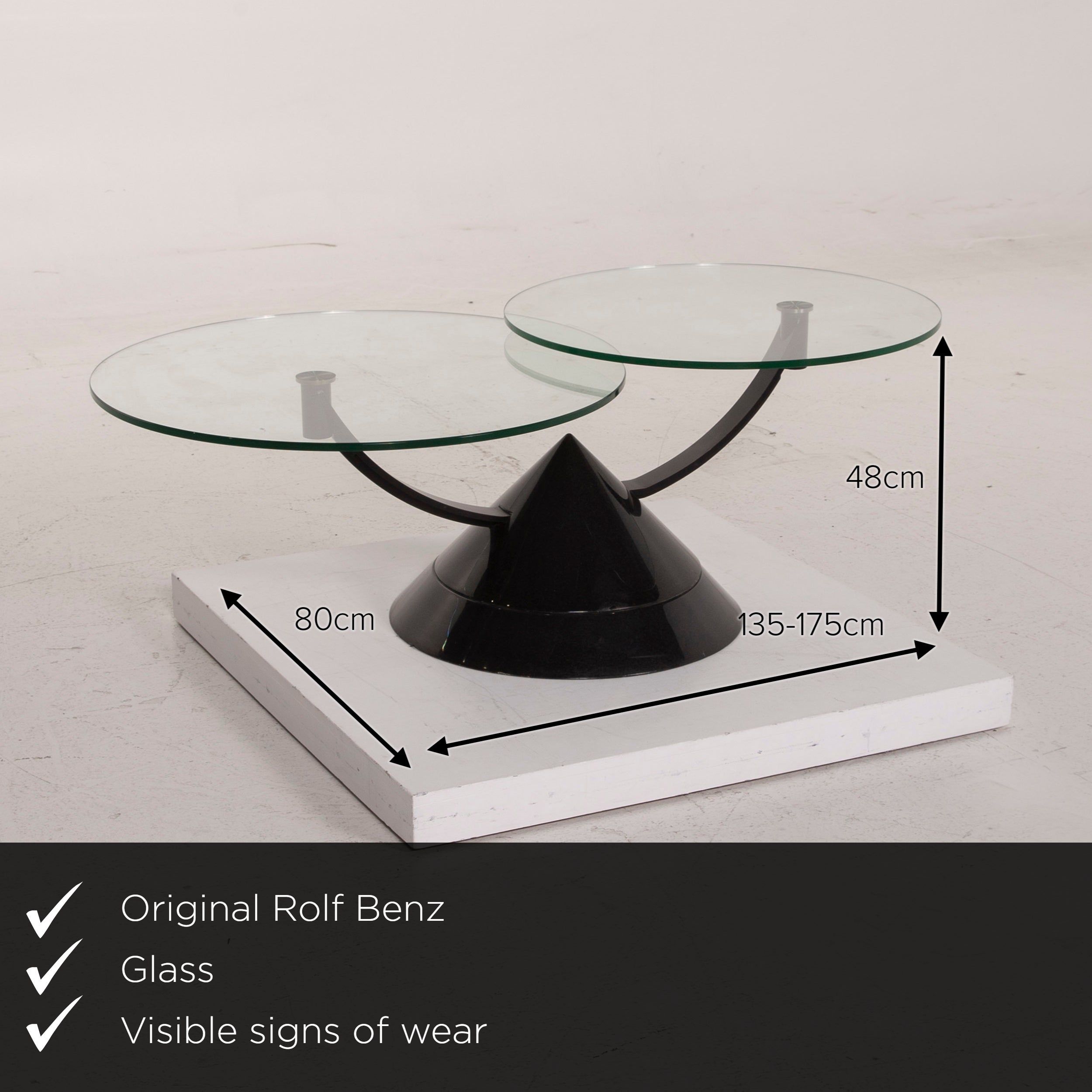 Rolf Benz Glass Table Black Coffee Table Stone Outlet Adjustable For Sale At 1stdibs