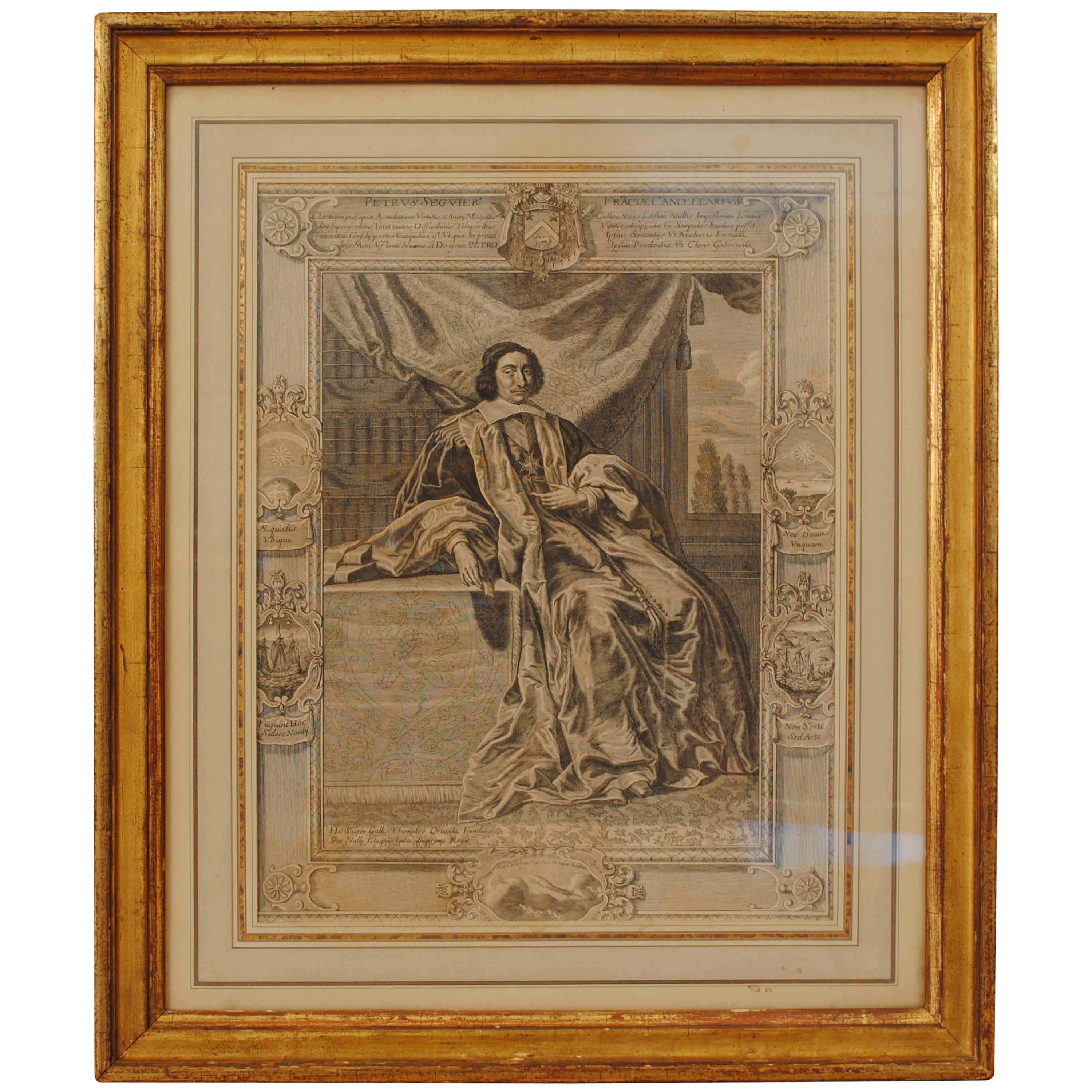 Non Vi Sed Arte In English Two 18th Century Italian Neoclassical Engravings In Giltwood Frames
