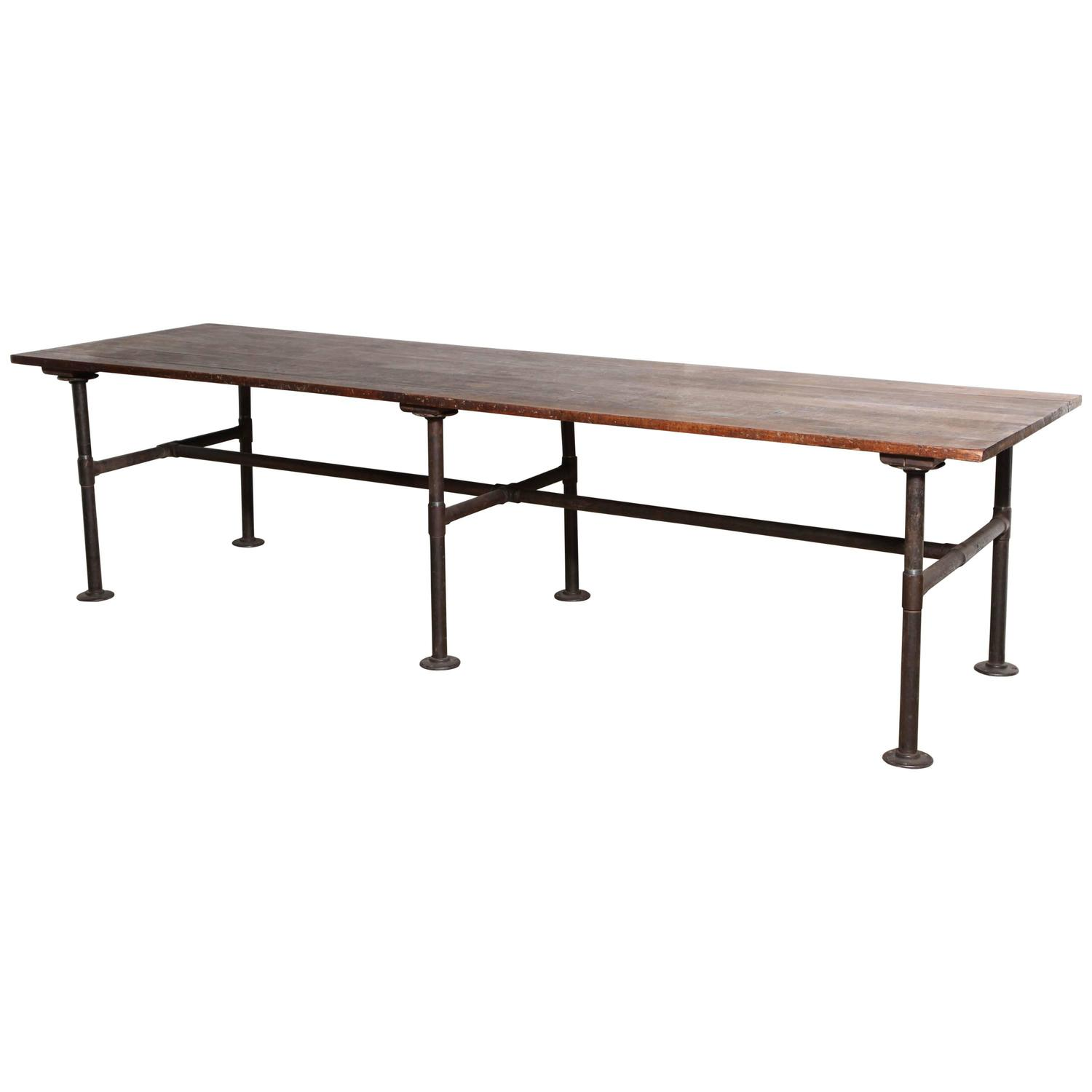 10 Foot Dining Table 19th Century 10 39 Foot Long Solid Black Walnut Industrial
