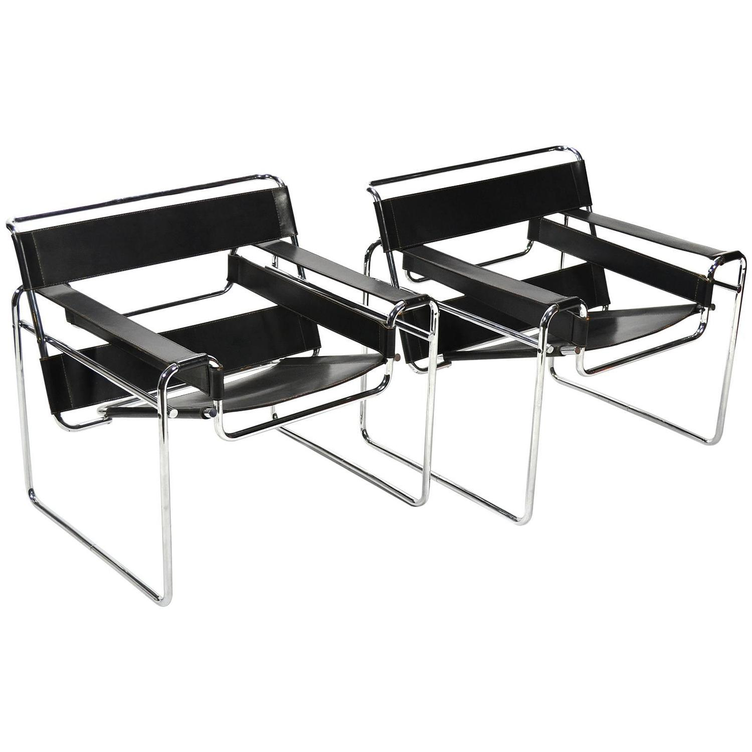 Wassily Chair Marcel Breuer Pair Of Early Wassily Chairs By Knoll