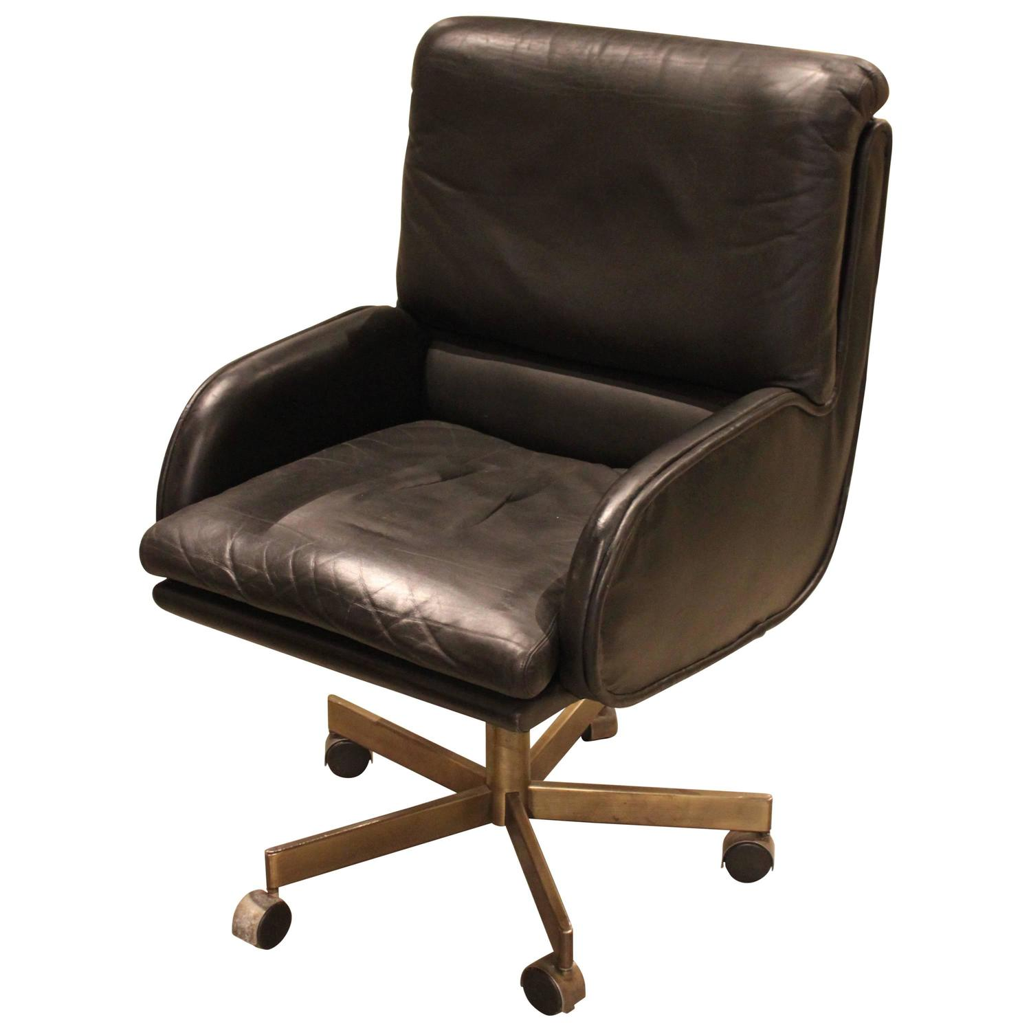 Beautiful Office Chairs Beautiful Vintage Leather Desk Chair At 1stdibs