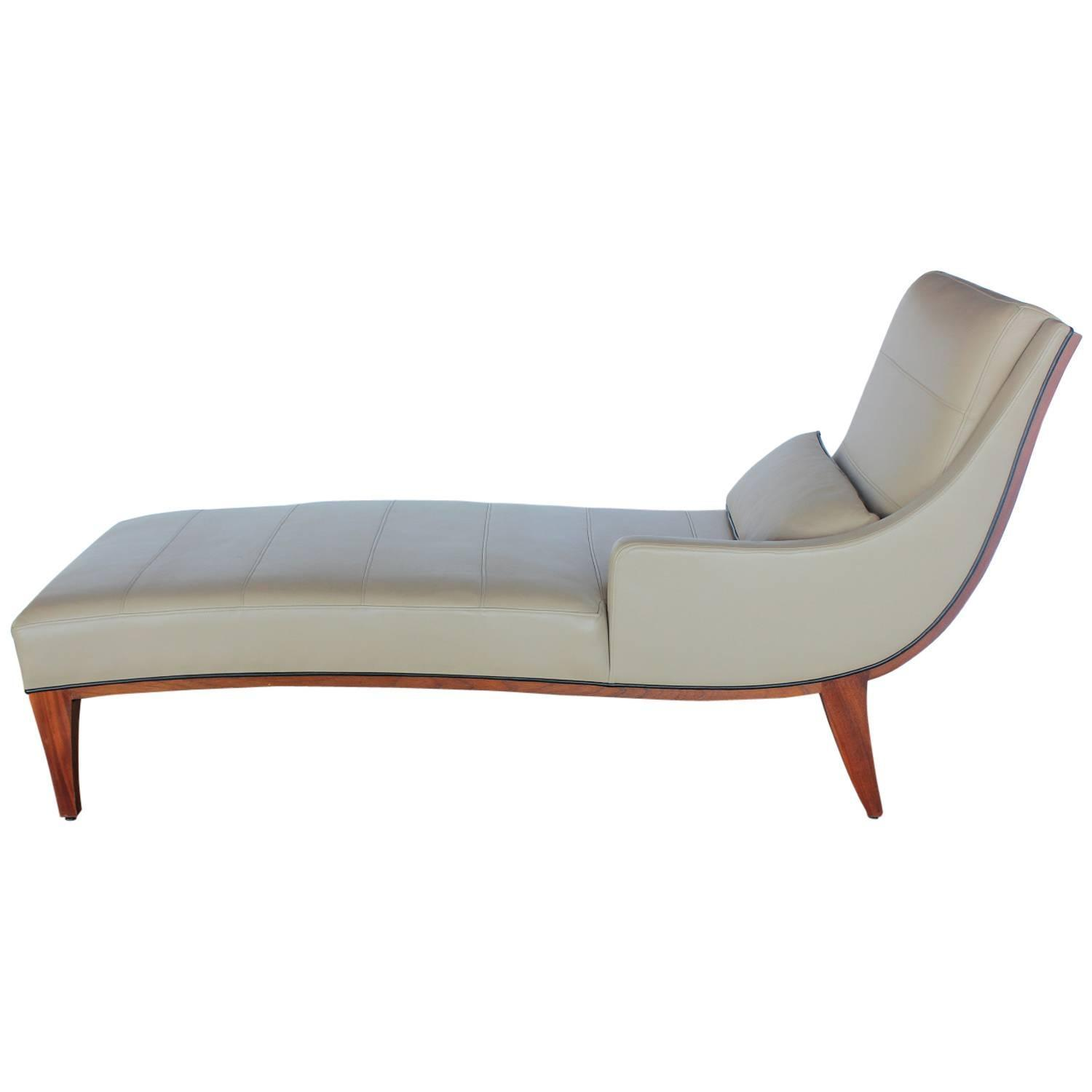 Modern Chaise Lounge Modern Leather Chaise Lounge By Widdicomb For Sale At 1stdibs