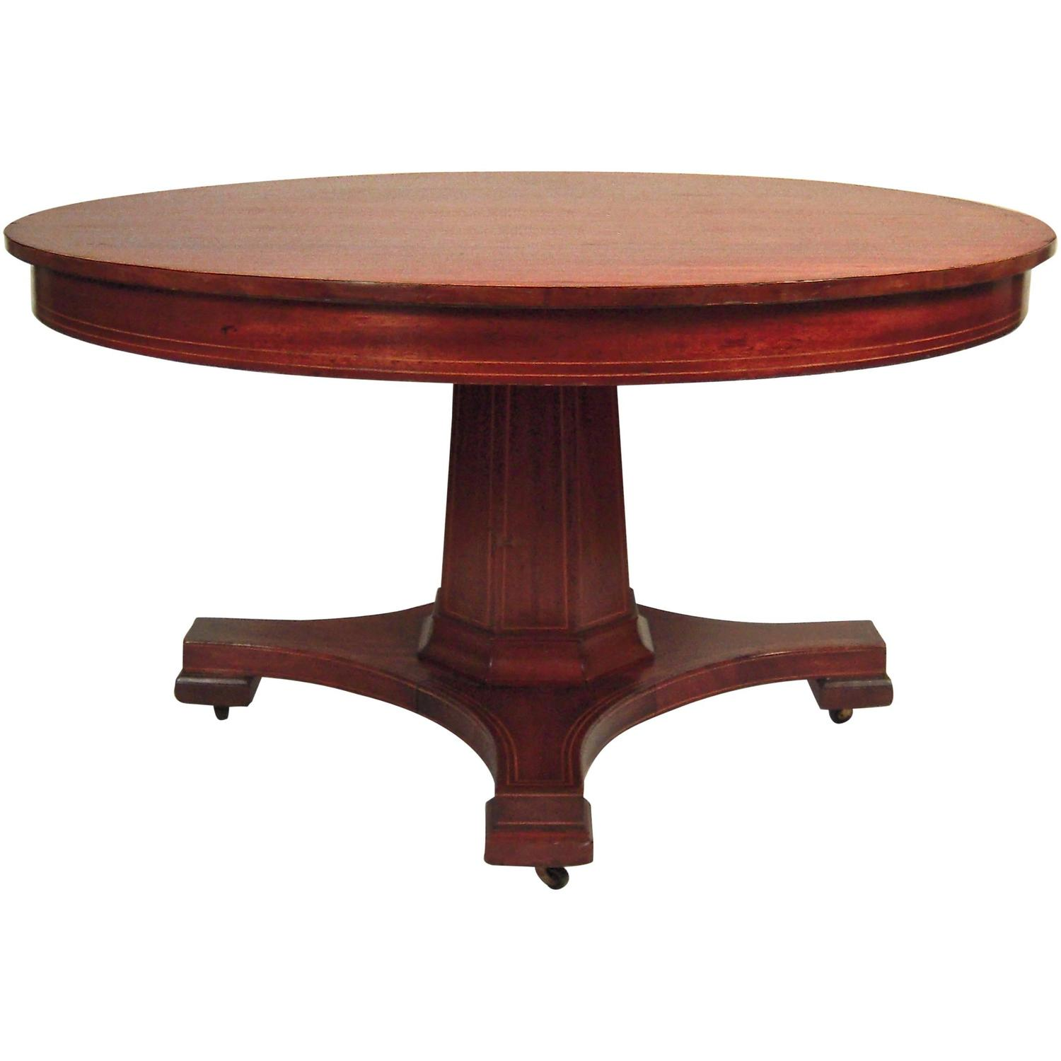 Round Dining Table With Extensions Inlaid Mahogany Round Extension Dining Table 54