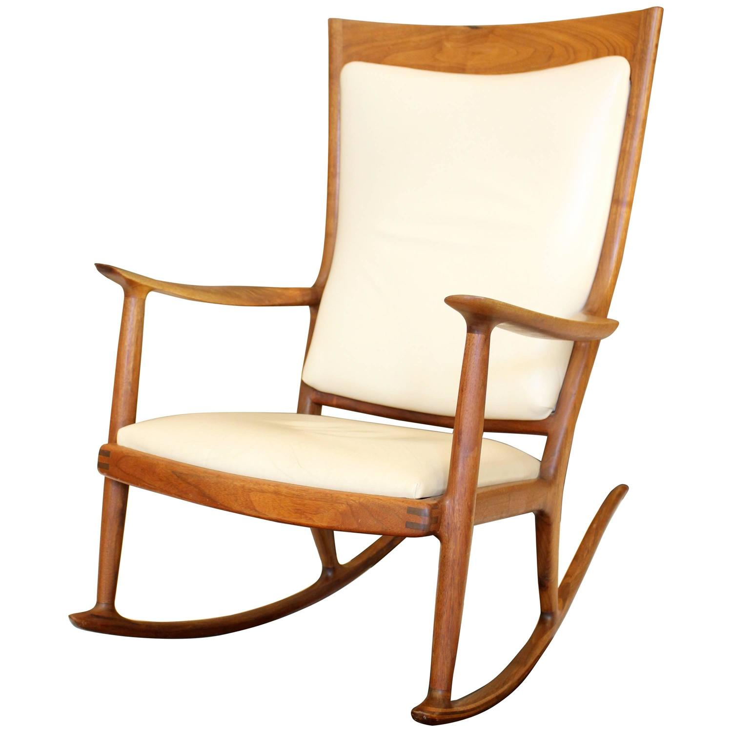 Beautiful Rocking Chairs A Beautiful Sam Maloof Rocking Chair For Sale At 1stdibs