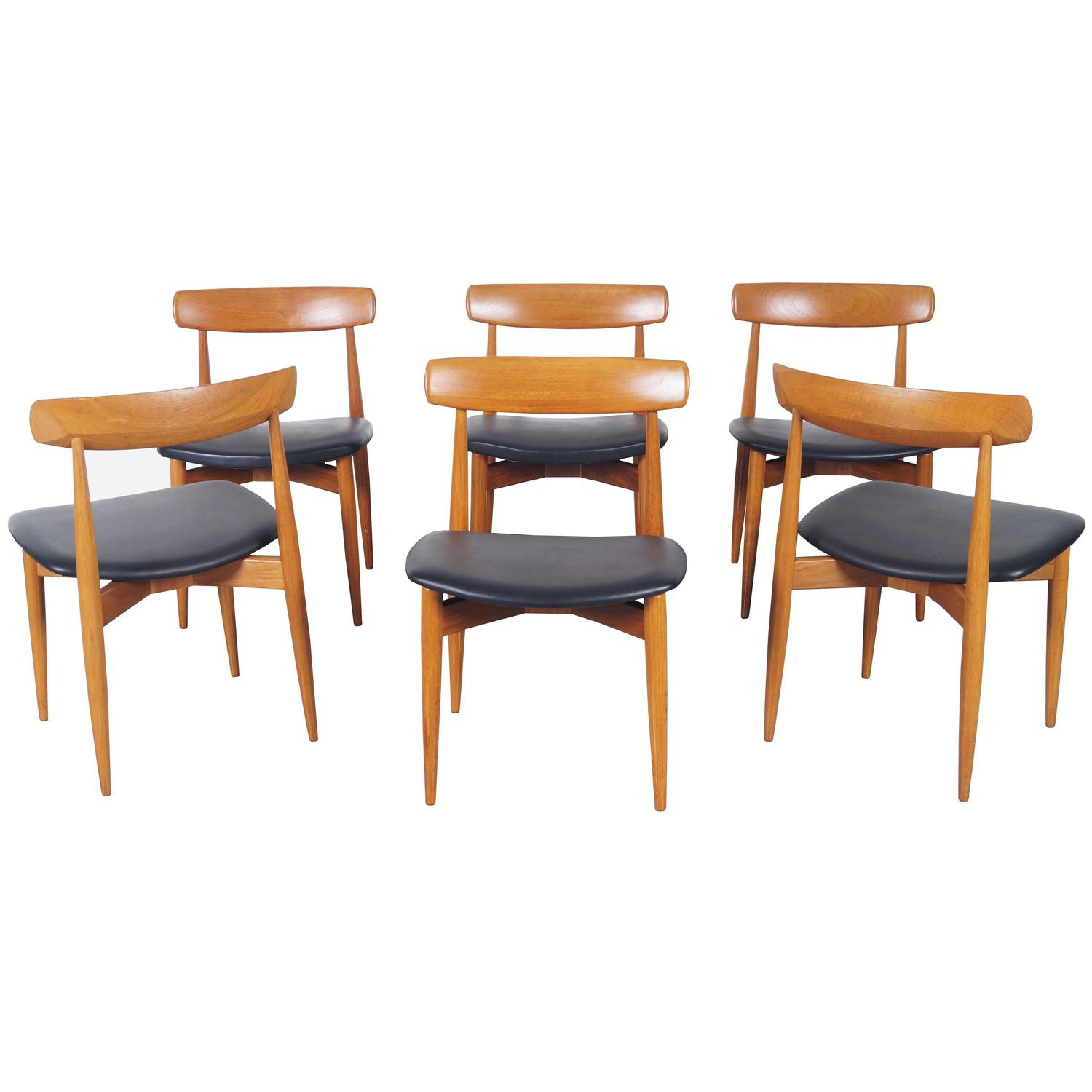 Danish Modern Dining Chairs For Sale Danish Teak Dining Chairs By H W Klein