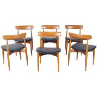 Danish Teak Dining Chairs by H.W. Klein For Sale at 1stdibs