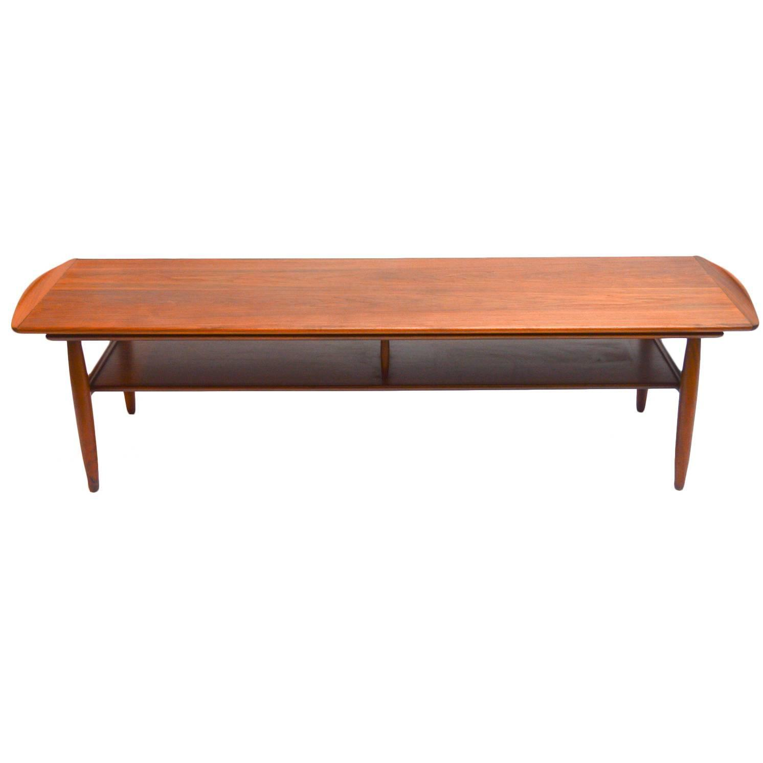 Mid Century Black Coffee Table Mid Century Modern Two Tiered Walnut Coffee Table At 1stdibs