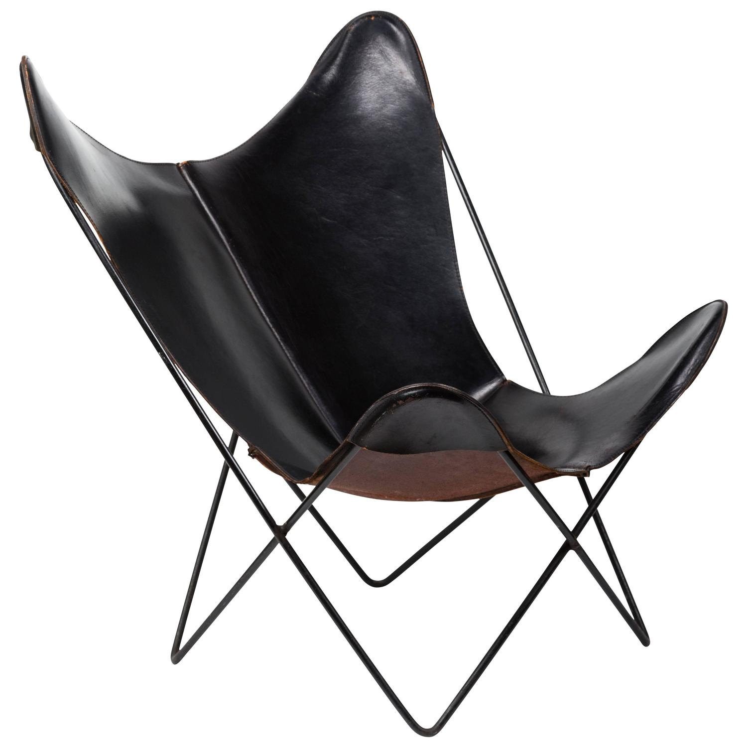 Butterfly Chair Knoll Leather Butterfly Chair By Jorge Ferrari Hardoy For Knoll