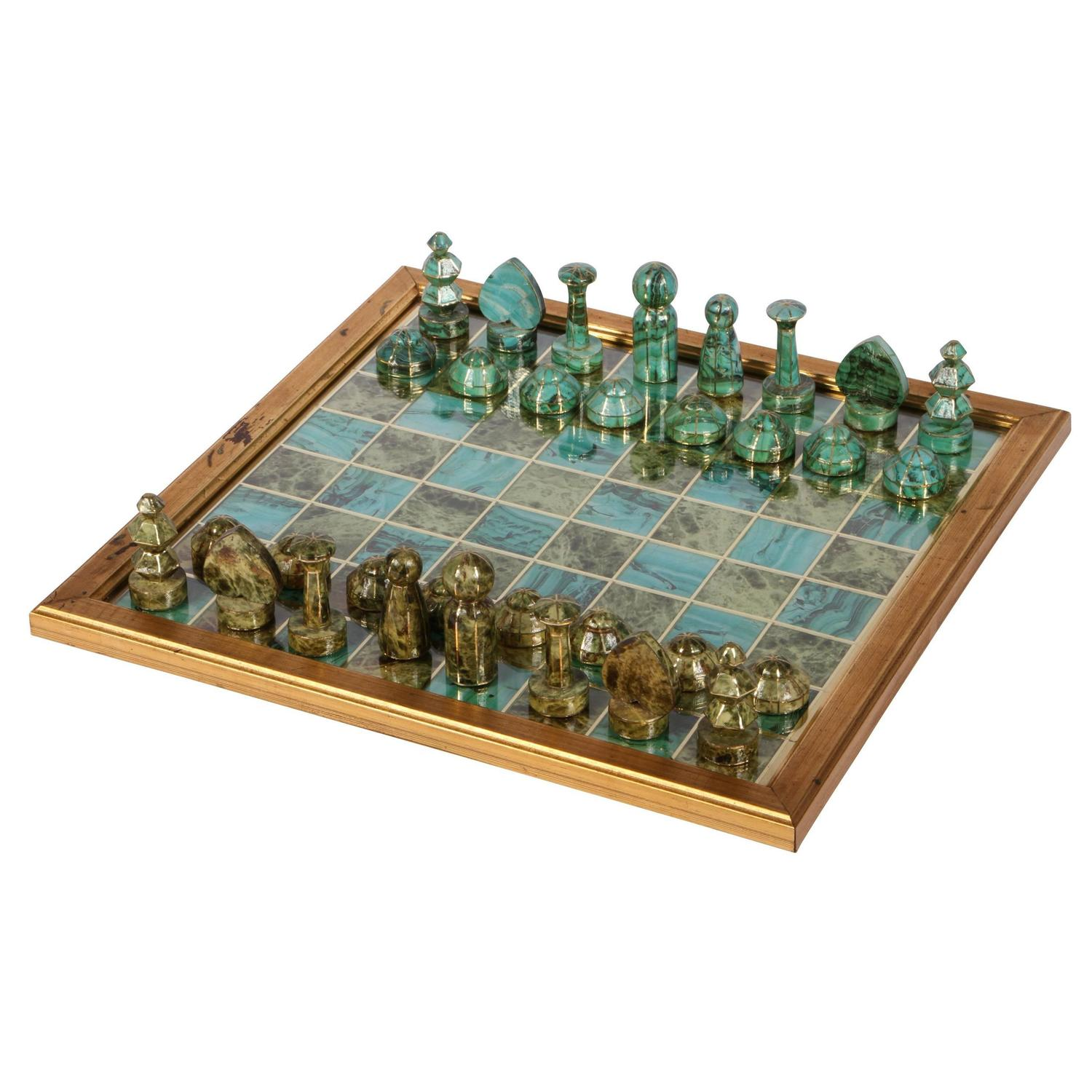 Chess Board Sale Decoupage Chess Board With Gaming Pieces For Sale At 1stdibs