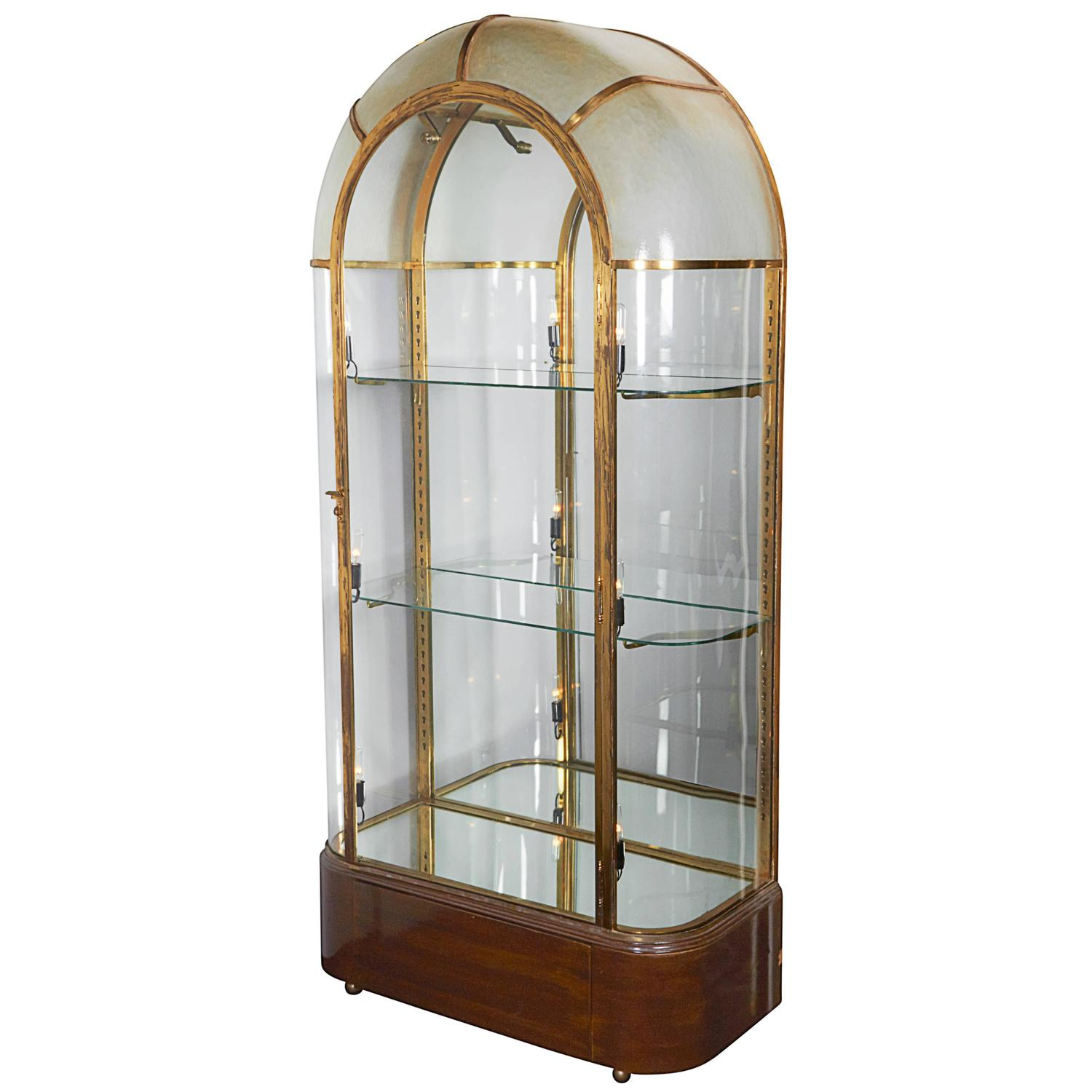 French Art Deco Illuminating Vitrine At 1stdibs