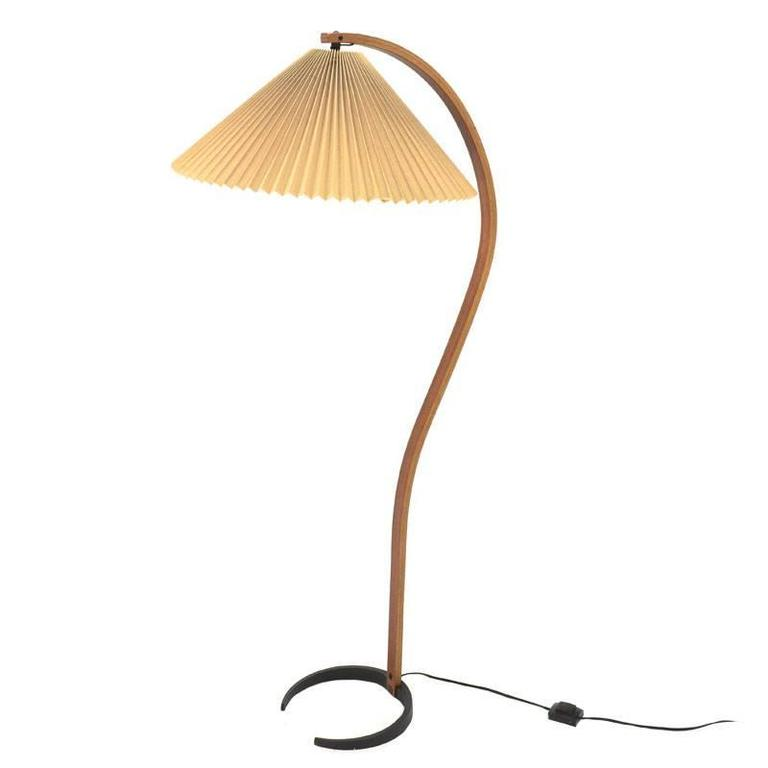 Stehlampe Gebogen Bent Teak Caprani Floor Lamp With Original Shade At 1stdibs