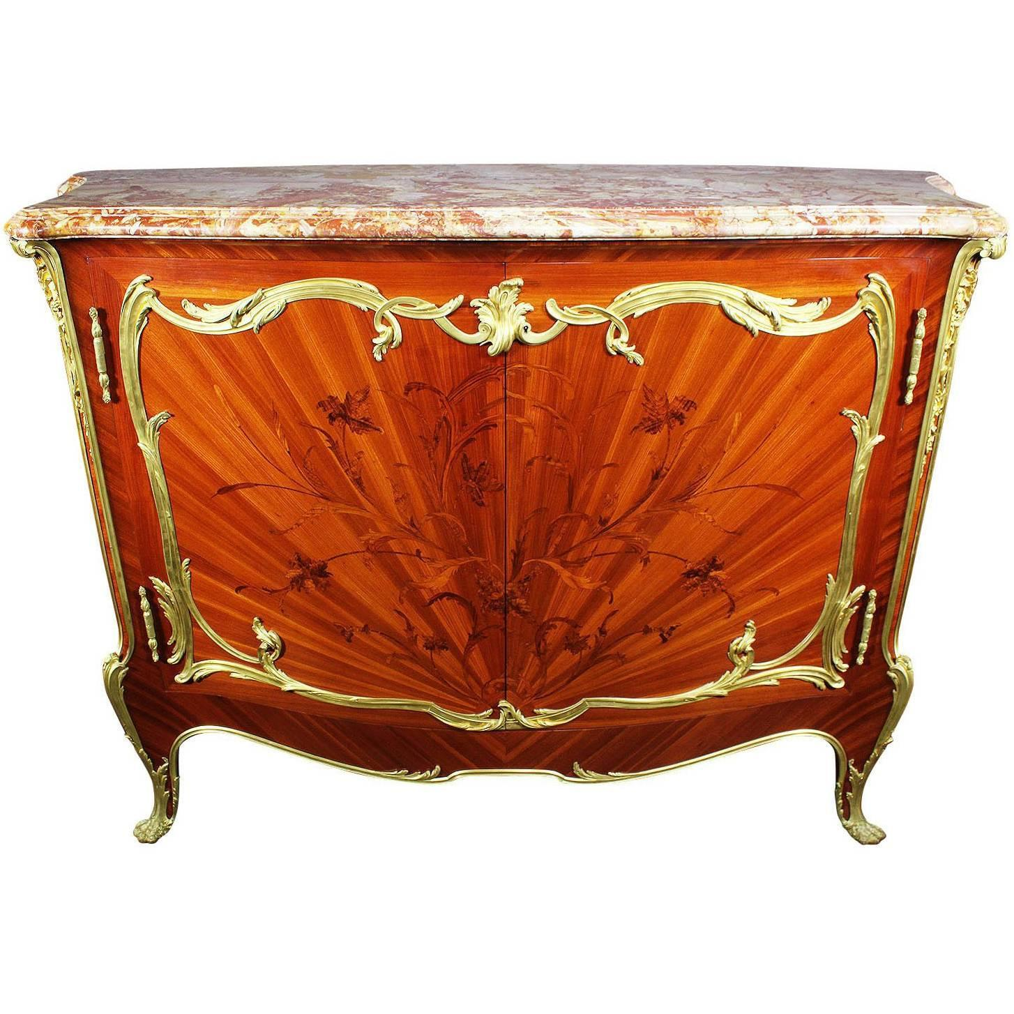 Meuble Style Louis Xv French 19th Century Louis Xv Style Ormolu Mounted Marquetry Meuble D Appui