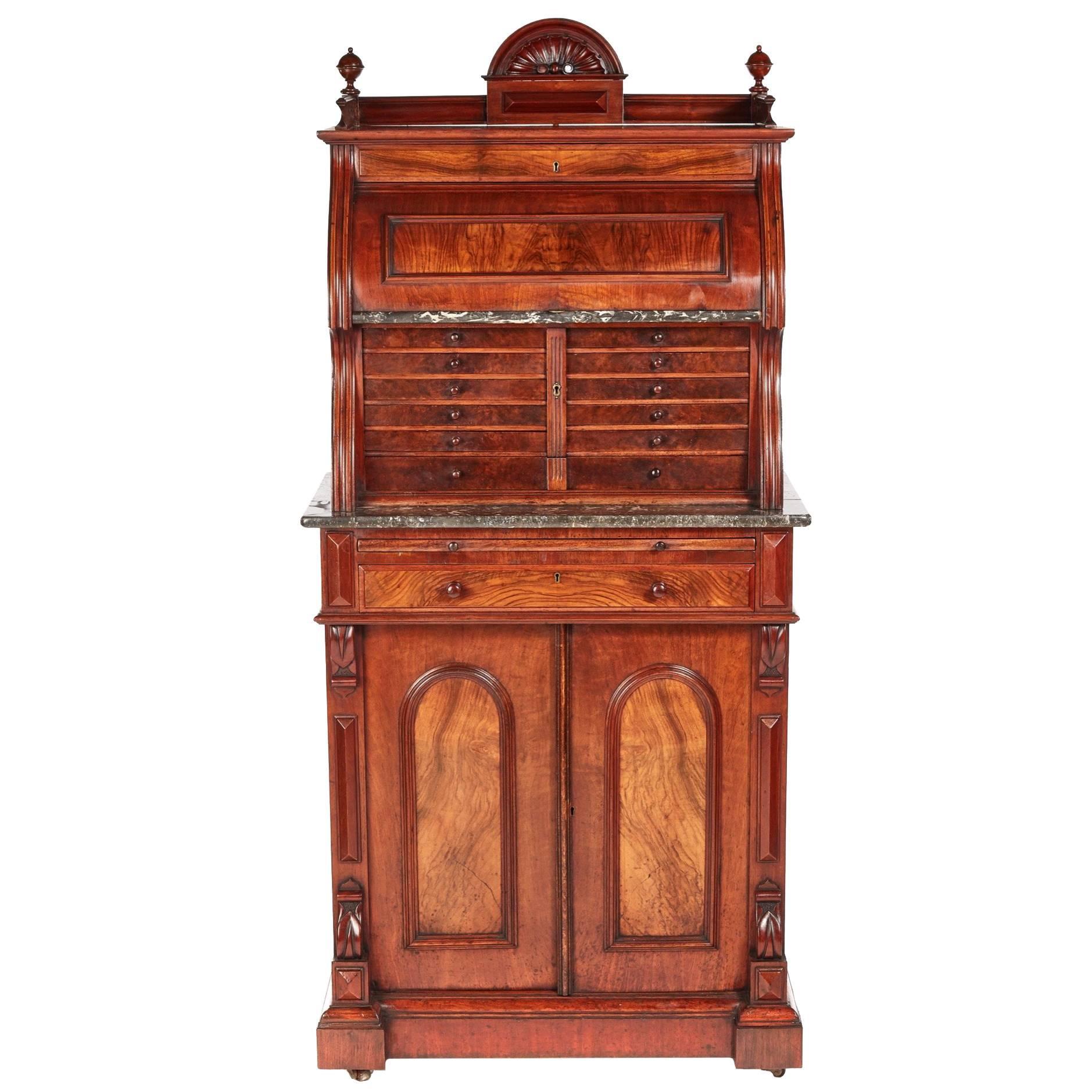 Fantastic Victorian Burr Walnut Dentist Cabinet For Sale at 1stdibs