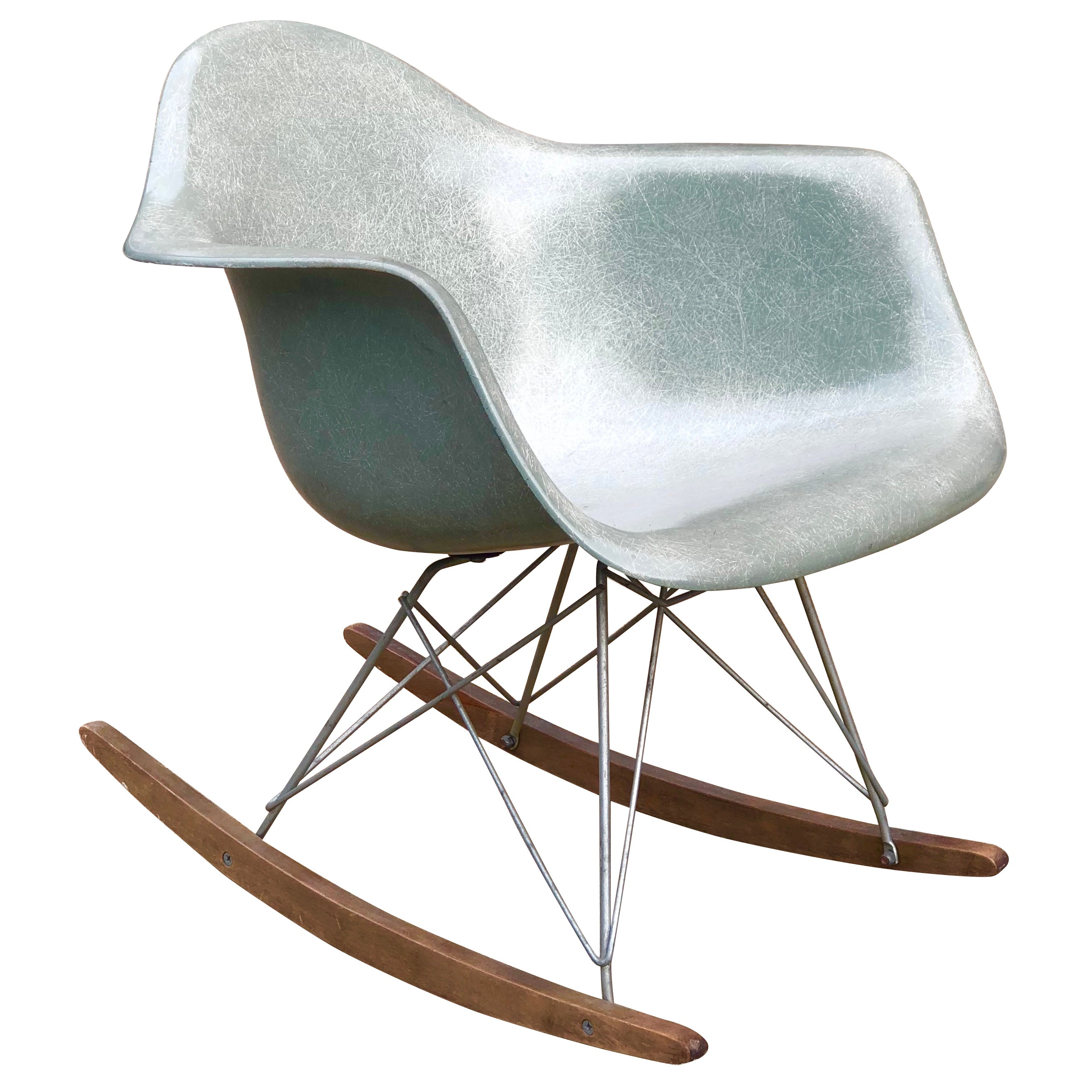 Eames Rar Herman Miller Eames Rar Rocking Chair In Seafoam Green