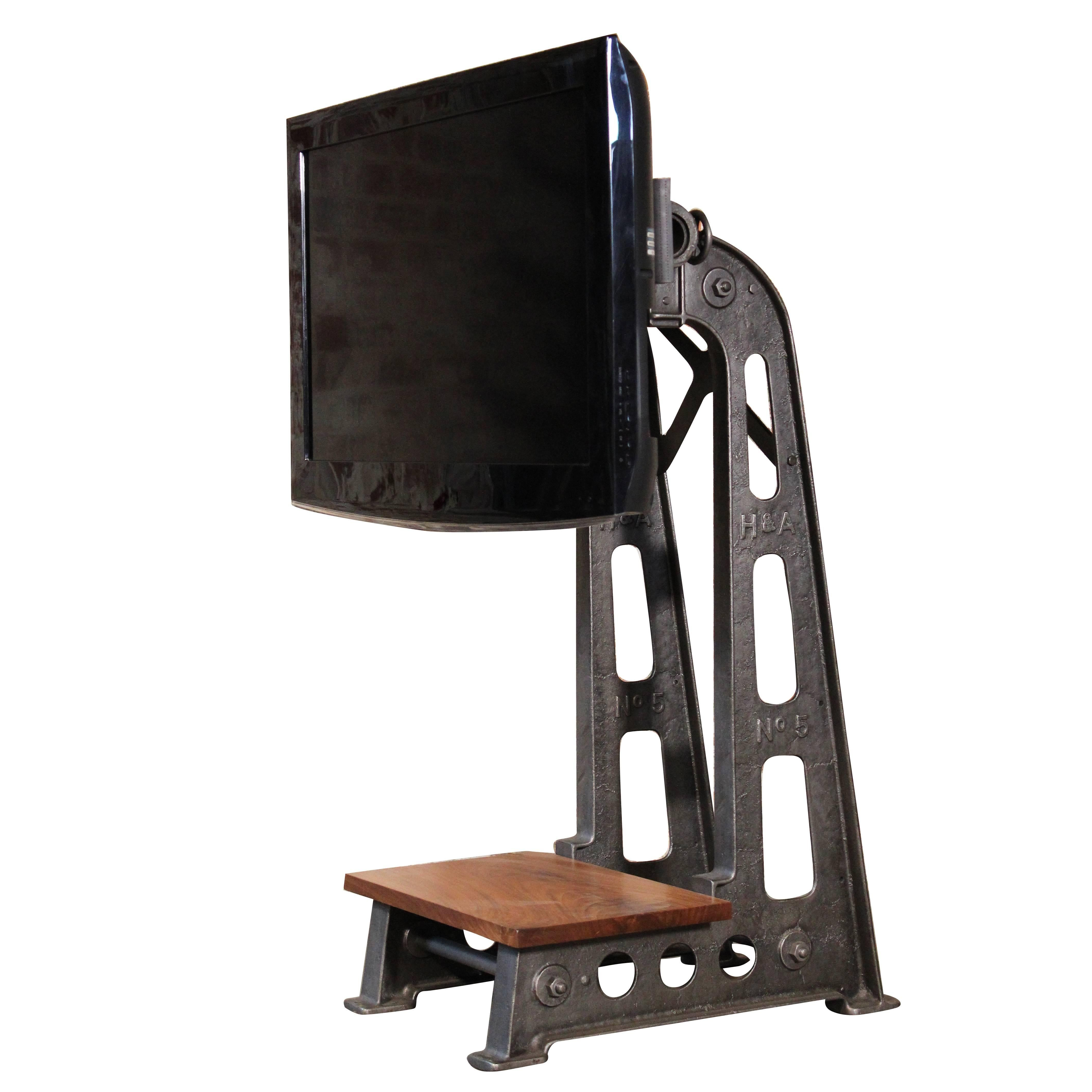 Flat Screen Tv Stands Flat Screen Tv Stand Vintage Industrial Cast Iron Media Screen Display Table