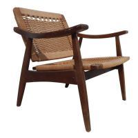 Hans Wegner Style Woven Chair at 1stdibs