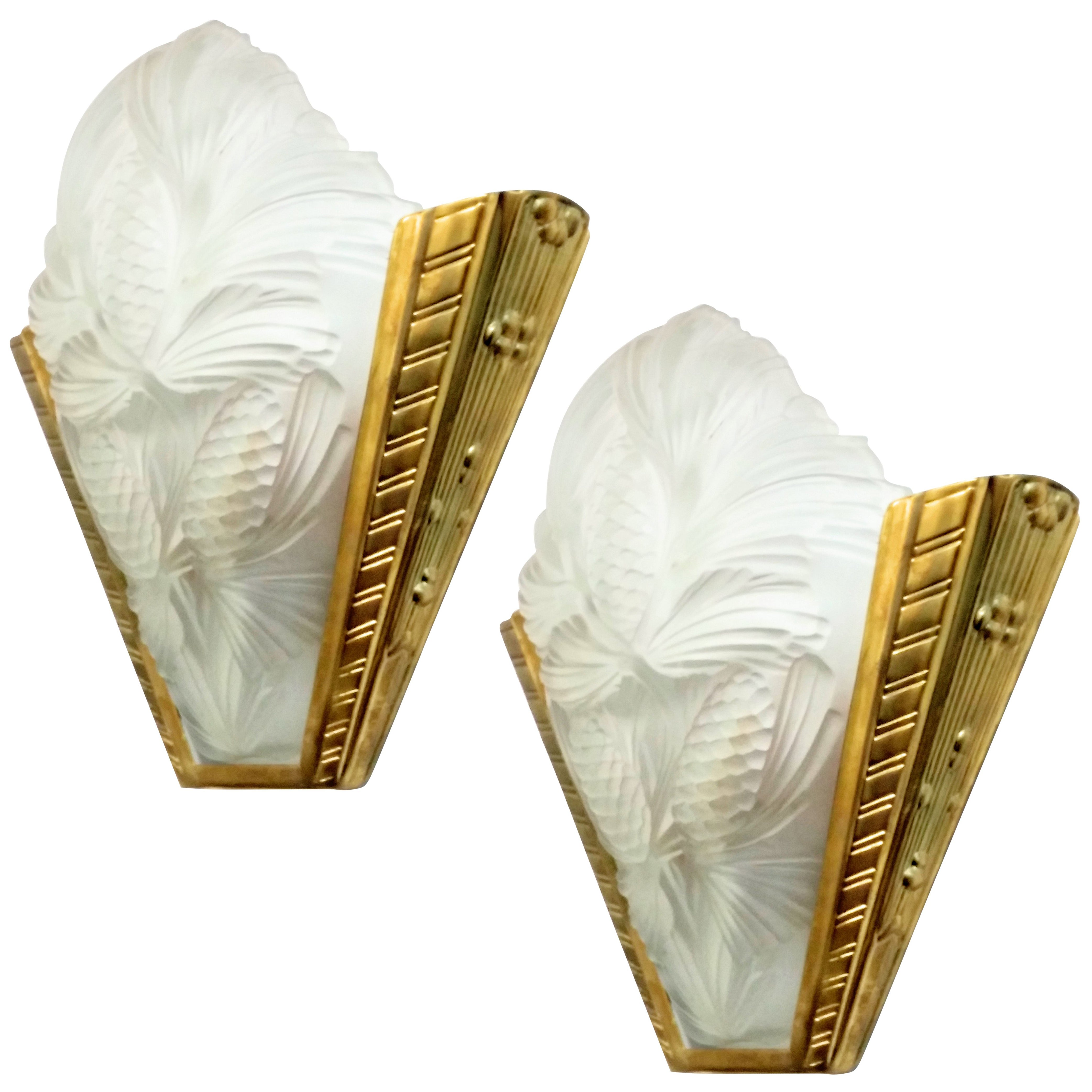 Office Wall Sconces French Art Deco Pine Cone Wall Sconces