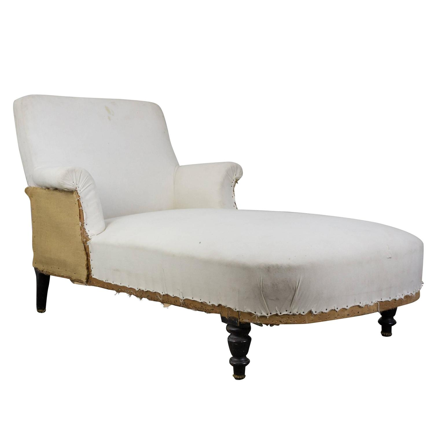 French Chaise French 19th Century Chaise Lounge For Sale At 1stdibs