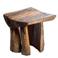 Handmade Rustic Tree Stump Stool For Sale at 1stdibs
