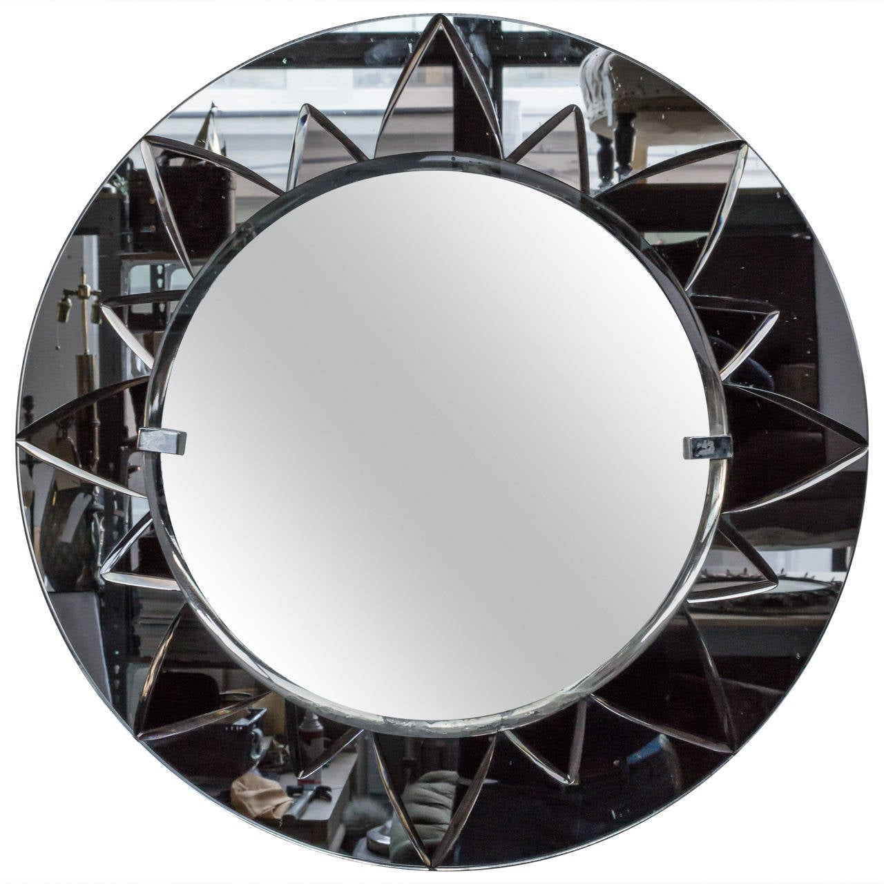 Art Deco Style Mirror Unusual Art Deco Style Mirror With Rose Mirror Sunburst Design