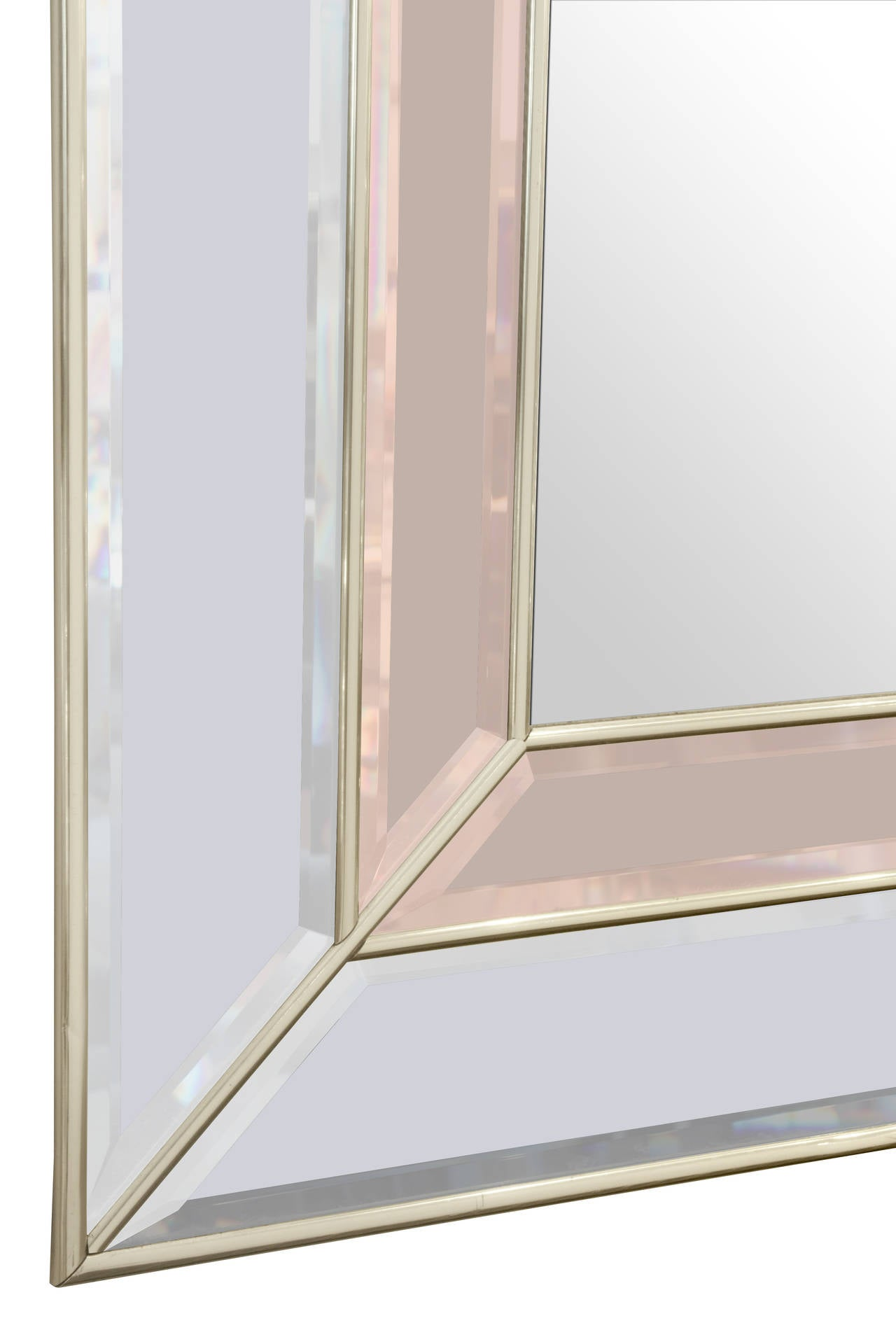 Art Deco Style Mirror Art Deco Style Mirror With Clear And Champagne Tinted Mirrored Panels
