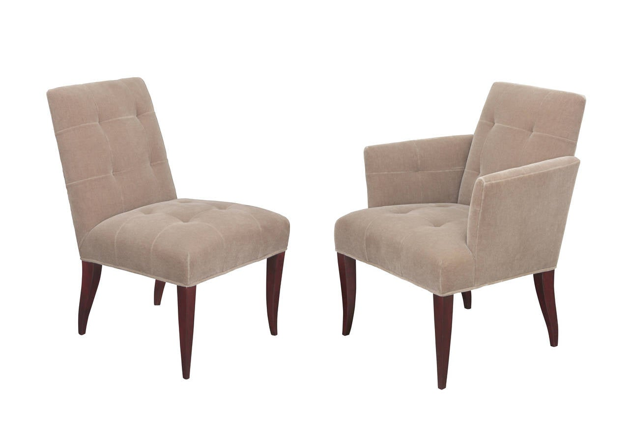 Eaton Furniture Set Of 12 Eaton Dining Chairs By John Hutton For Donghia