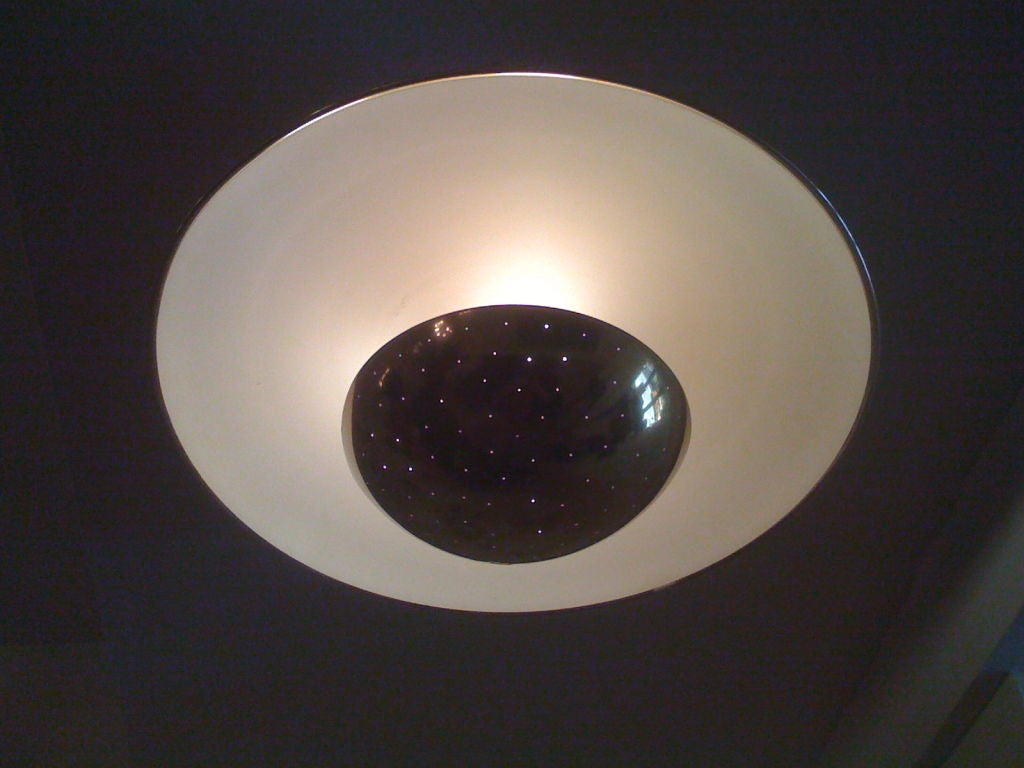 Decorative Ceiling Discs Gino Sarfatti Reflective Disk Flush Ceiling Light At 1stdibs