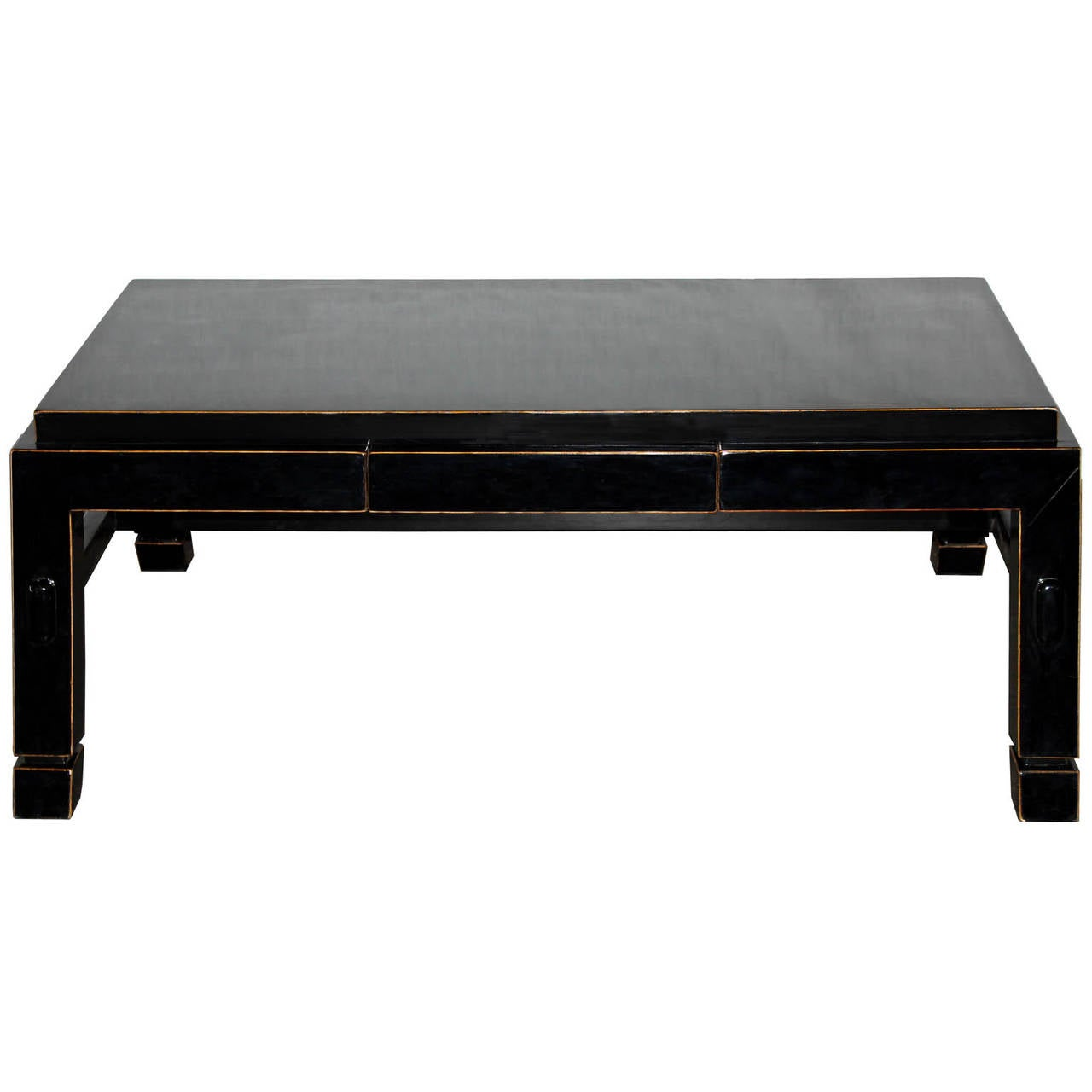 Black Coffee Table For Sale Eb One Drawer Black Coffee Table At 1stdibs