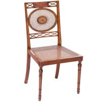 Fancy Painted Satinwood Chair at 1stdibs