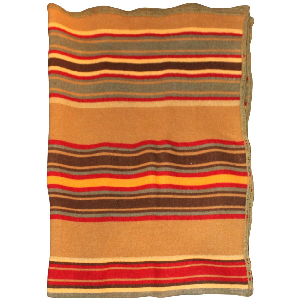 Camp Blankets Rare And Early Striped Pendleton Or Cayuse Camp Blanket