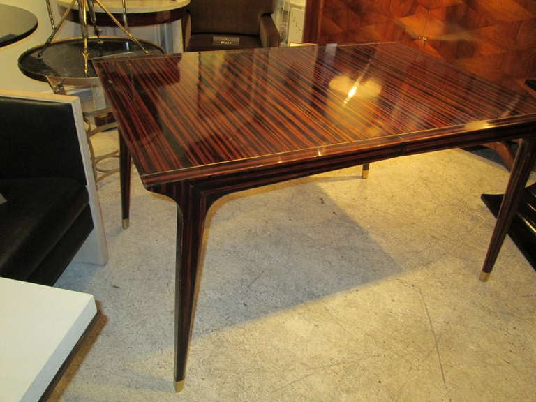 Exquisite Faux Painted Mid Century Modern Dining Table For
