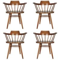 Set of Four Captain's Chairs by George Nakashima For Sale ...