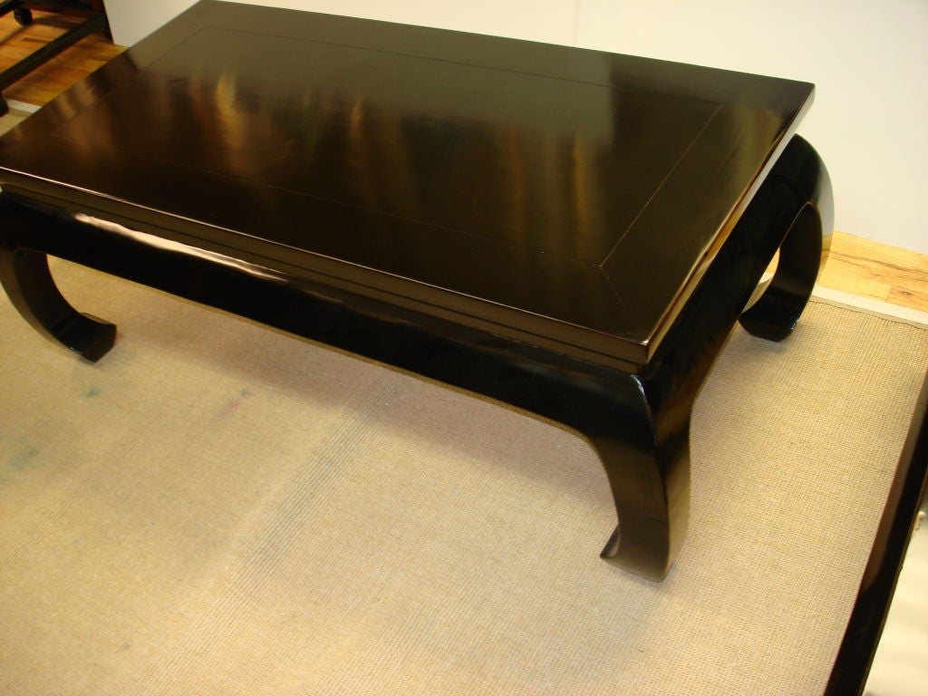 Low Black Table Black Lacquer Low Table At 1stdibs