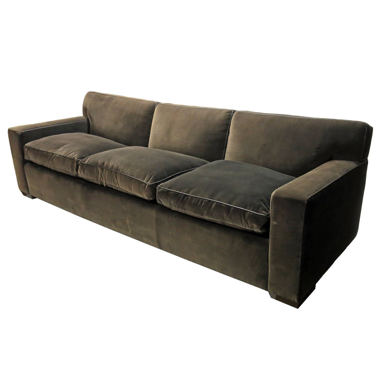 What Is Velvet Made Of Custom Made Sofa In Brown Velvet Made 1990 By Jonas Nyc At