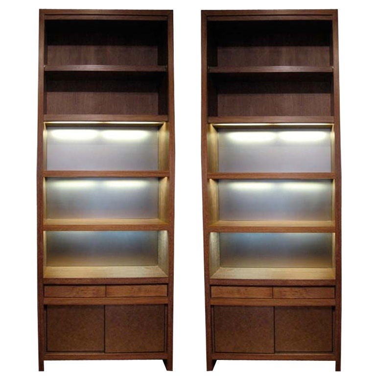 Takashimaya Building Nyc Pair Of Bookcases Cabnets