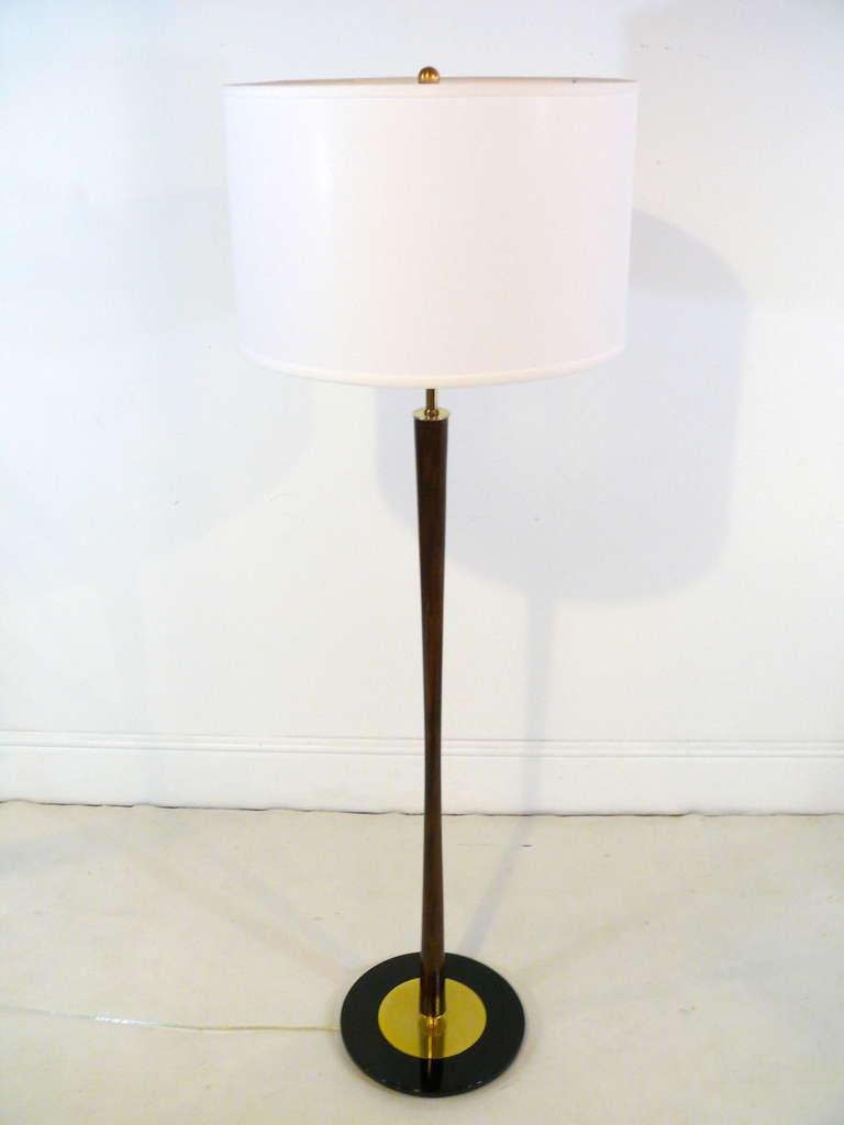 Pair of gerald thurston floor lamps at 1stdibs