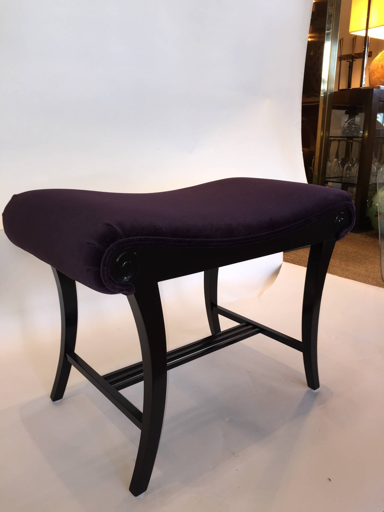 Vanity Bench For Sale Ebonized Art Deco Vanity Stool For Sale At 1stdibs