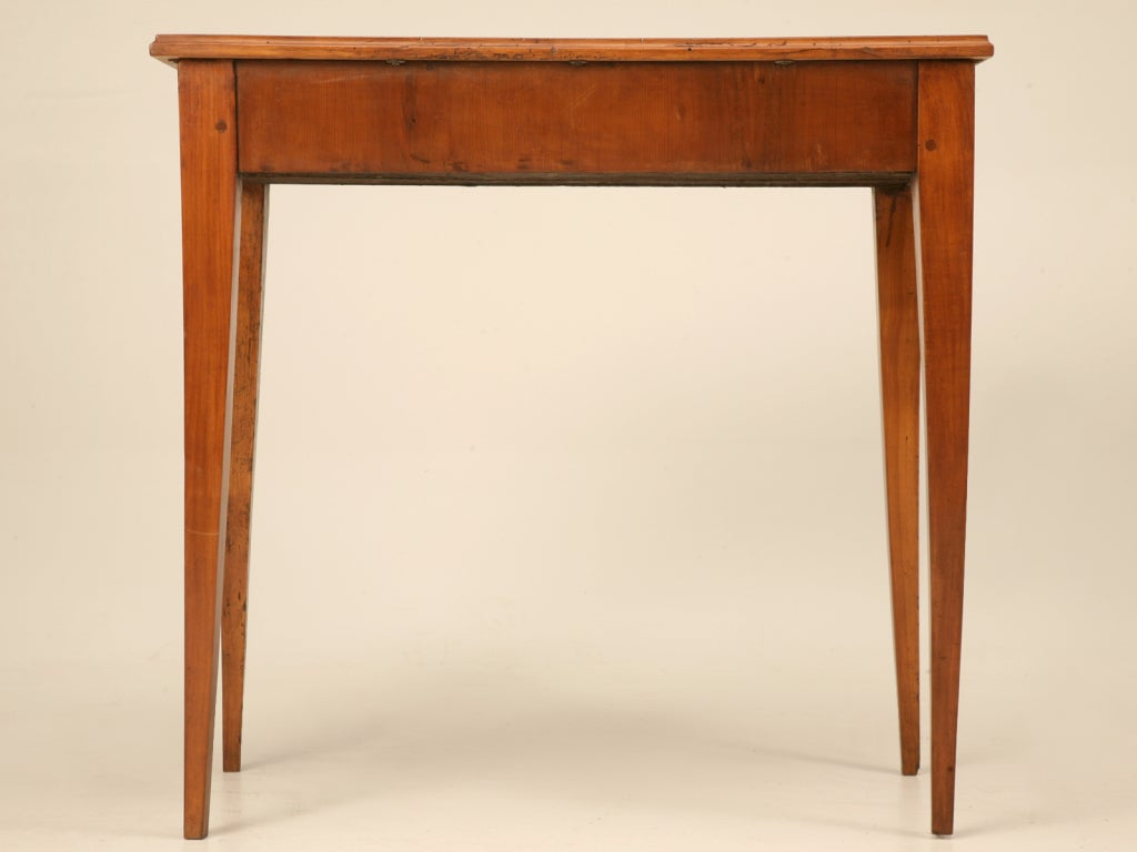 petite antique french cherry wood side end or console