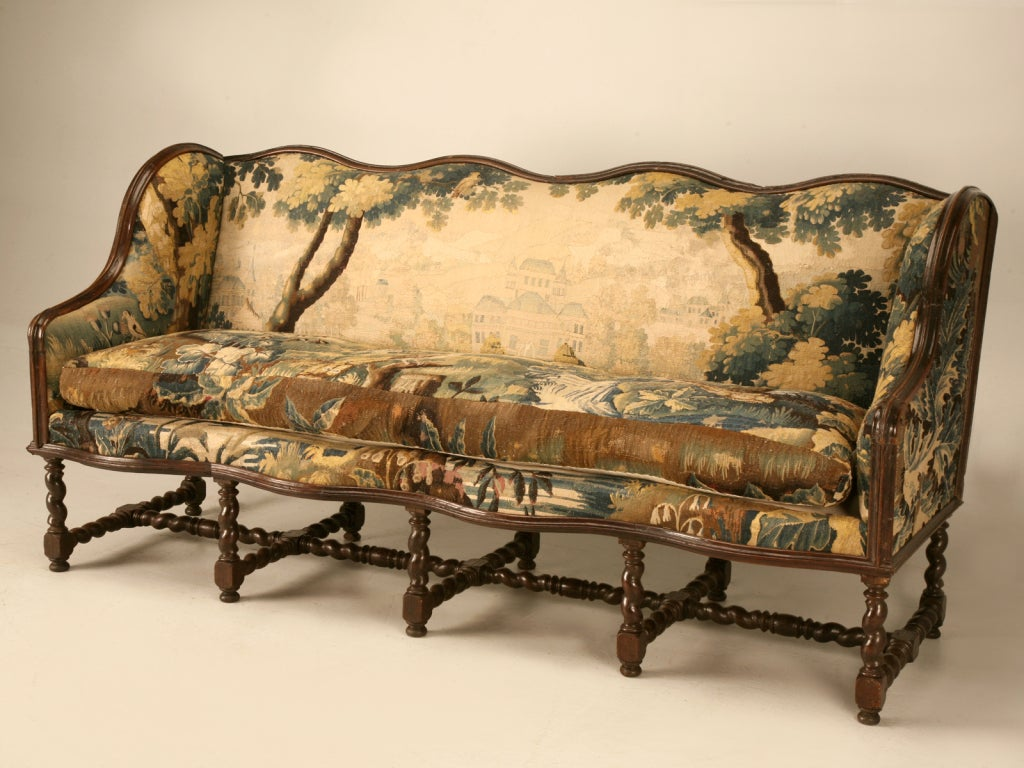 Antike Sofas & Loveseats Original Antique French Louis Xiii Sofa With Earlier