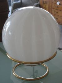 Mid Century Mod Glass Orb Table Lamp at 1stdibs