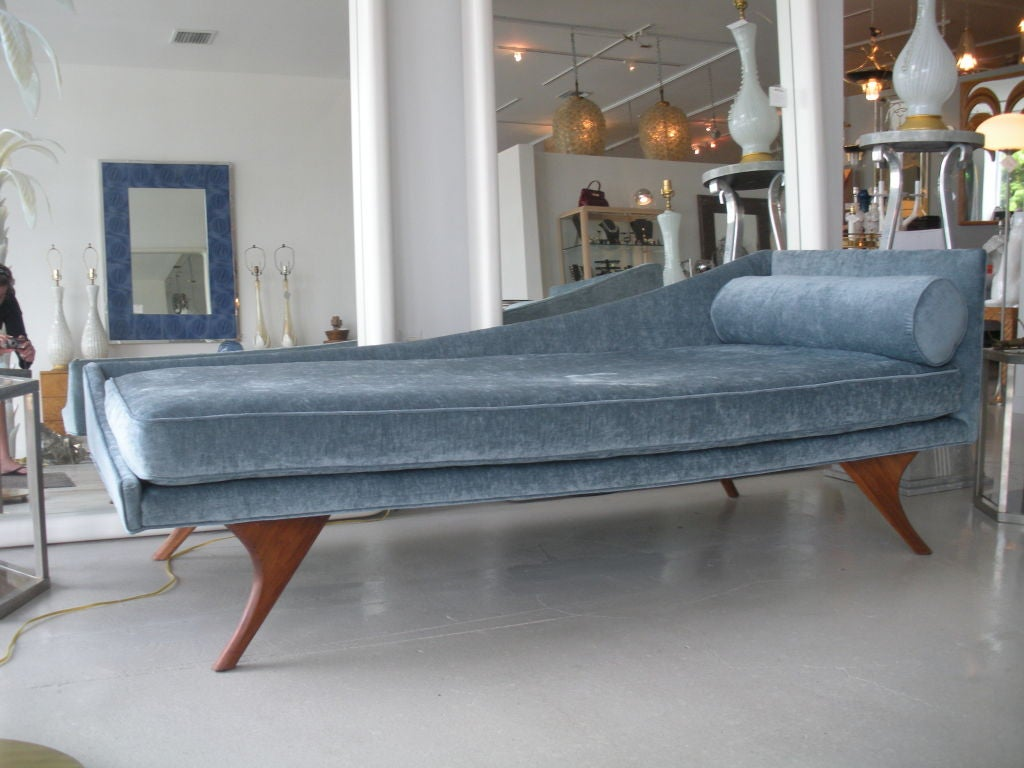 Modern Chaise Lounge Mid Century Modern Chaise Lounge At 1stdibs