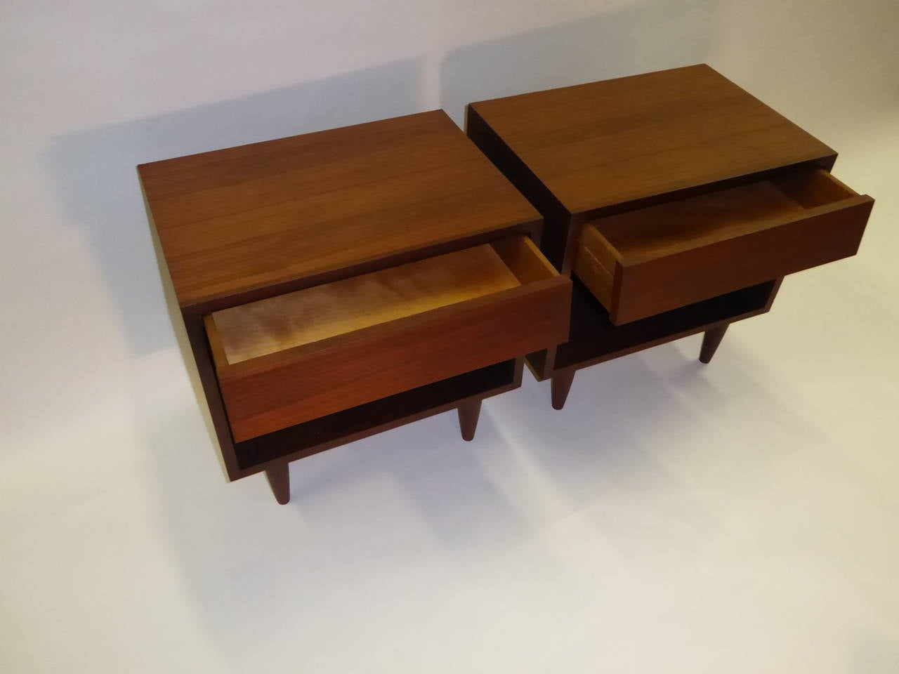 Danish Bedside Table 1950s Danish Teak Bedside Tables At 1stdibs
