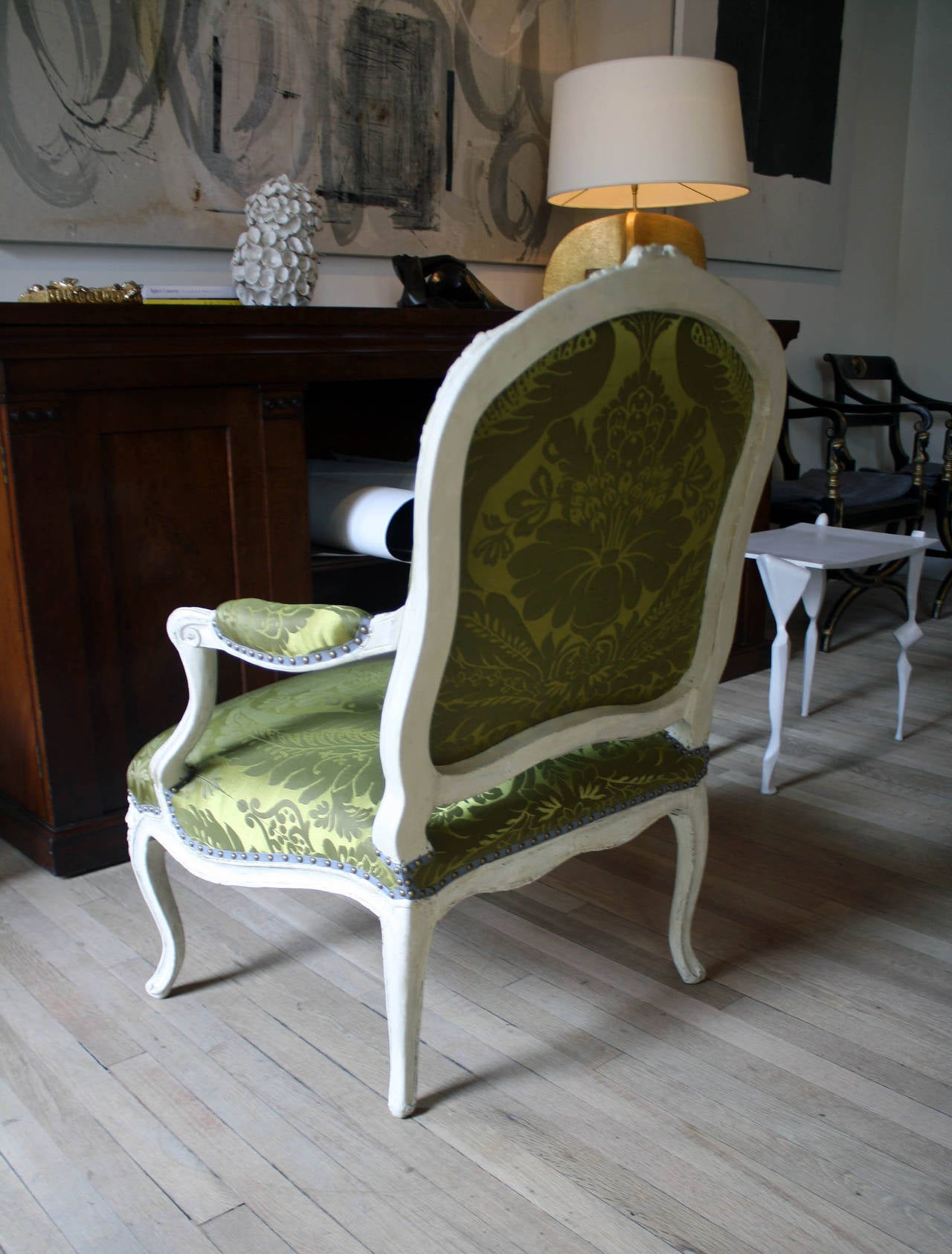 Louis Xvi Painted Fauteuil At 1stdibs