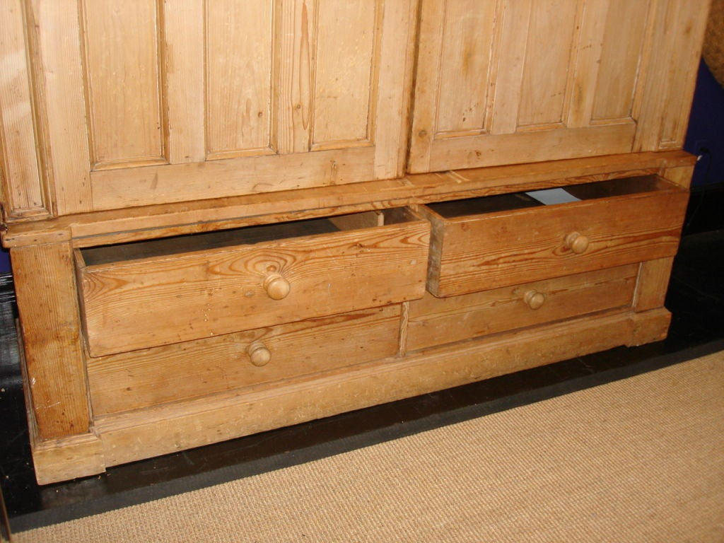Large Primitive Pine Armoire Drawers At 1stdibs